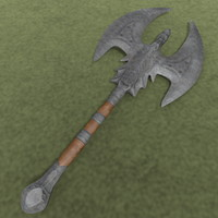 Large Barbarian War Axe