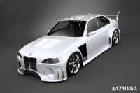 photorealistic bmw e36 shark 3d max