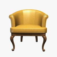 baxter dall armchair 3d model