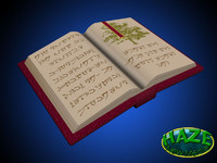 free magical tome text 3d model