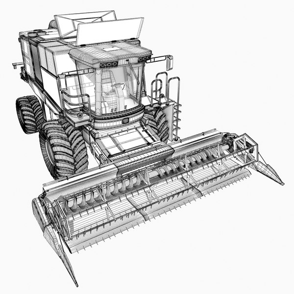 combine harvester coloring pages - John Deere Combine Coloring Pages