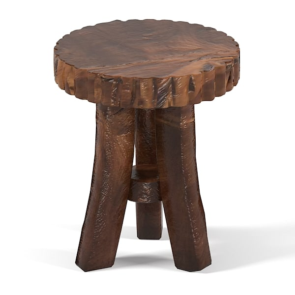 Groovy stuff Reclaimed teak wood furniture Prailire Stool bar pub rustic aged stool country tabouret cafe pub bar  0002.jpg