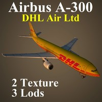 airbus dhl airliner 3d model