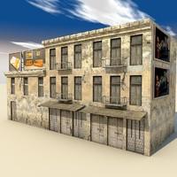 building exteriors scenes 3ds