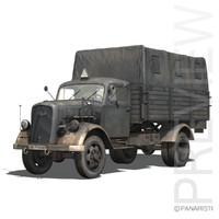 sd opel blitz truck 3d 3ds