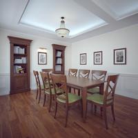 3d photorealistic interior classic