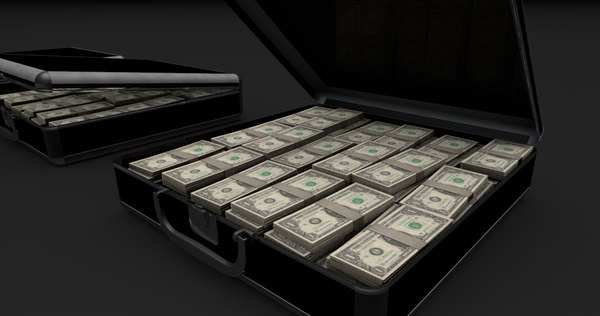 money briefcase 3ds - Money Briefcase... by thepixellab