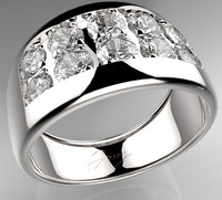 3d 3ds men diamond ring