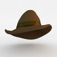 3d stylish male hat model