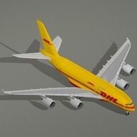airbus a380-800 f dhl a380 3d dxf