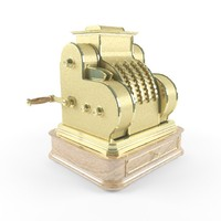 3d antique cash register model