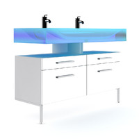 Double Blue Glass Sink