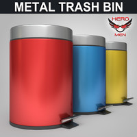 3ds metal dustbin