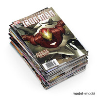 comics books 3d max