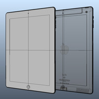 solid ipad 3 2 3d model