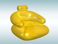 inflatable rubber chair 3d model
