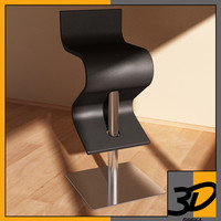 chintaly contemporary swivel stool 3d model