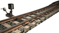 3d model rail switch concrete