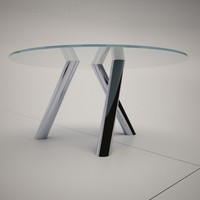 cattelan italia glass tables 3d 3ds