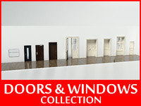 windows doors 3d model