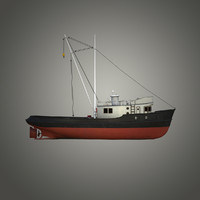 fishing boat 3d obj
