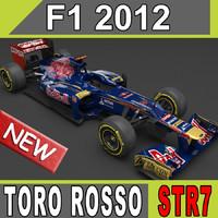 3d model 2012 toro rosso str7