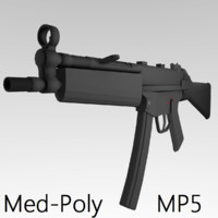 3d mp5 submachine gun model