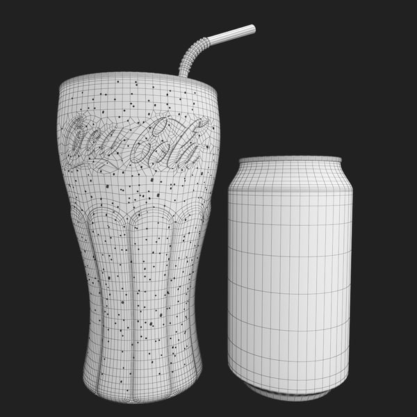3d photorealistic coca cola glass bottle - Detailed Coca Cola Bottle and Glass... by modelbay
