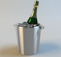 3d bottle champagne bucket model