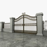 Wrought Iron Gate 04