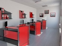 3d office design model