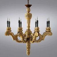 Restoration Hardware - 19th C. French Baroque Wood Chandelier Large