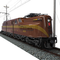 gg1 electric locomotive 3d model