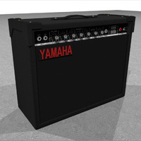 guitar amp amplifier 3d c4d
