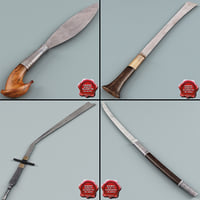 3d far east swords