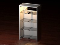 3d bookshelf light model