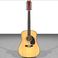 Acoustic 12 String Guitar: C4D Format