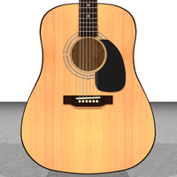3d model of guitar acoustic