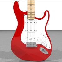 3d c4d guitar electric fender