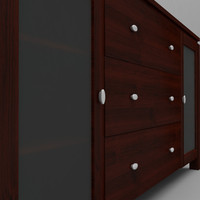 buffet console table 3d model