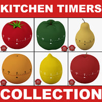 3d kitchen timers model
