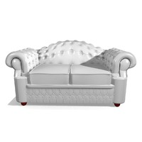 oxford 2 seater leather chair 3d 3ds