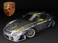 3d model of racing porsche 911 996