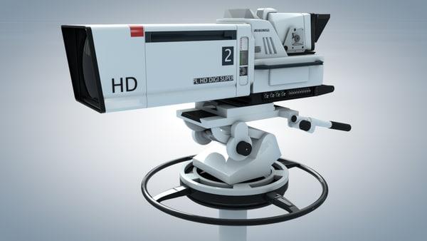 3d models electronics photography and film camera video camera studio
