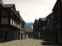 Medieval Cottages, Half-Timbered