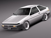 toyota corolla levin ae86 3ds