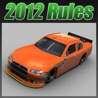 nascar 2012 dodge 3d model