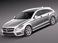 mercedes benz cls luxury 3d model