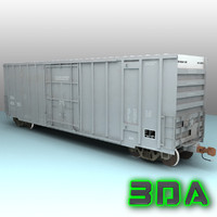 Railroad boxcar A405 CNA grey