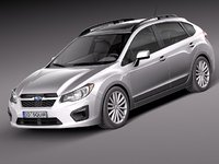 subaru impreza 2013 5-door 3d 3ds
